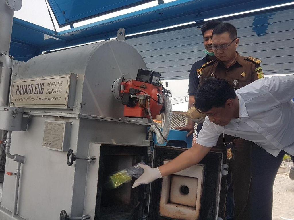 65 Ribu Butir Ekstasi dari Belanda Dimusnahkan BNN Banten