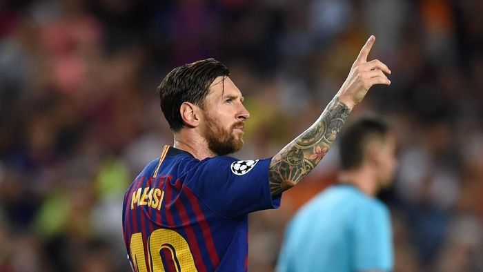 Lionel Messi raja hat-trick di Liga Champions. (Foto: Alex Caparros/Getty Images)