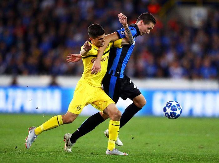 Borussia Dortmund saat menang atas Club Brugge. (Foto: Dean Mouhtaropoulos/Getty Images)