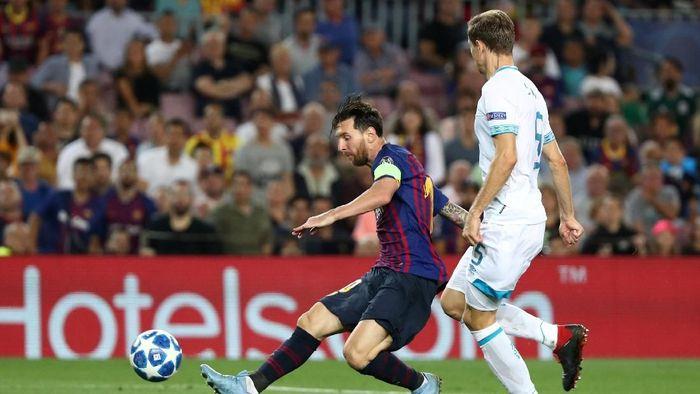 Lionel Messi mencetak hat-trick ke gawang PSV Eindhoven. (Foto: Sergio Perez/REUTERS)