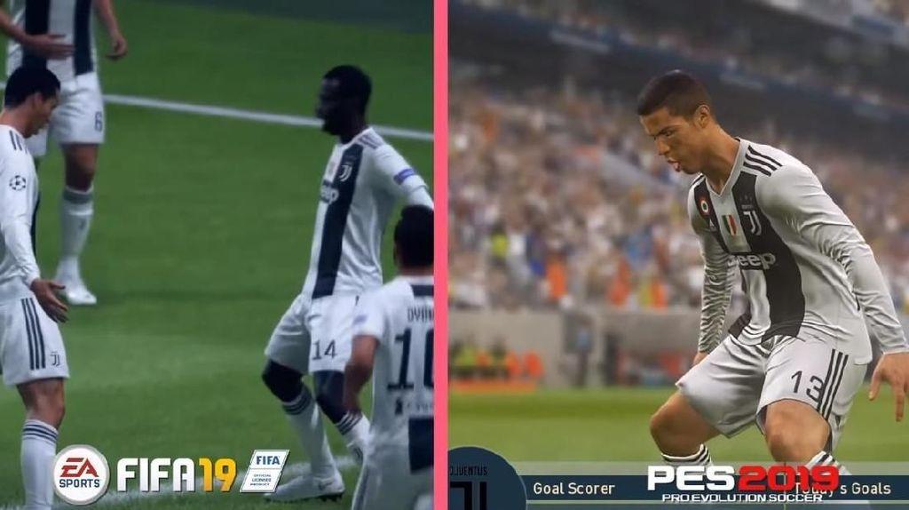 Beda Selebrasi di FIFA 19 dan PES 2019, Lebih Asyik Mana?
