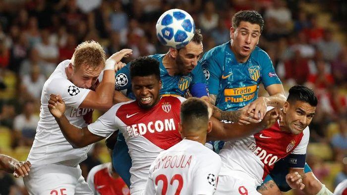 Atletico Madrid menang 2-1 atas AS Monaco di matchday 1 Liga Champions (Foto: Eric Gaillard/Reuters)
