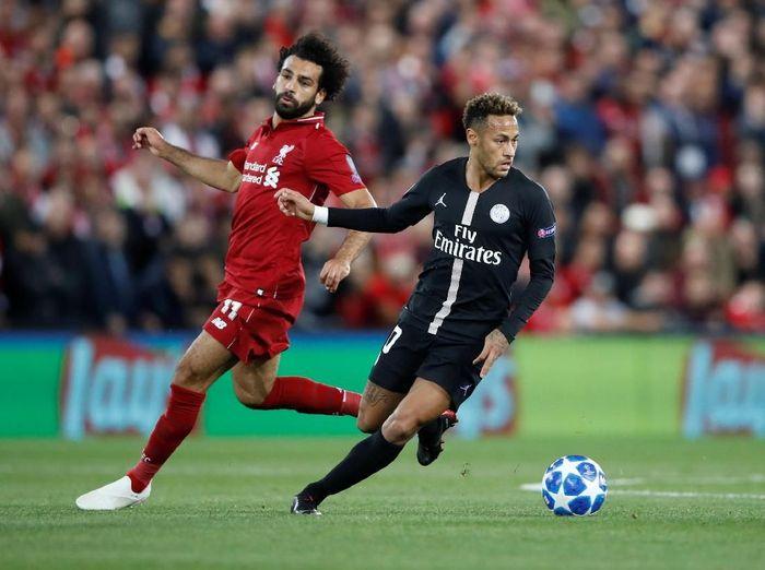Liverpool dan Paris Saint-Germain bertemu pada matchday I Grup C Liga Champions di Anfield, Rabu (19/9/2018) dinihari WIB. Mohamed Salah dan Neymar sama-sama diandalkan oleh masing-masing tim. (Carl Recine/Reuters)