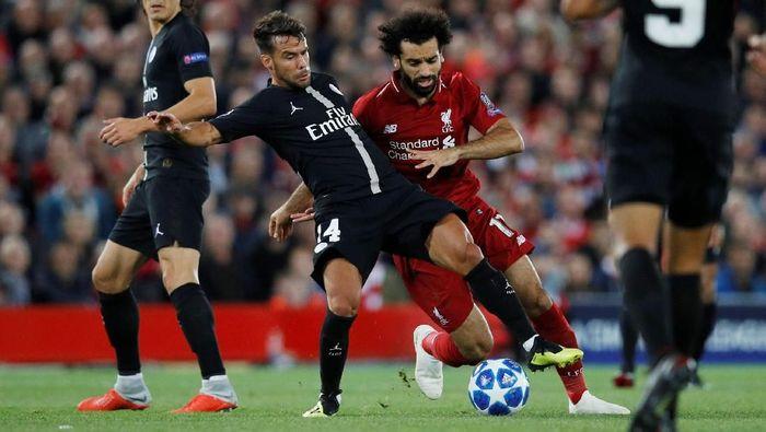Mohamed Salah tampil buruk saat Liverpool mengalahkan PSG 3-2. (Foto: Phil Noble/Reuters)