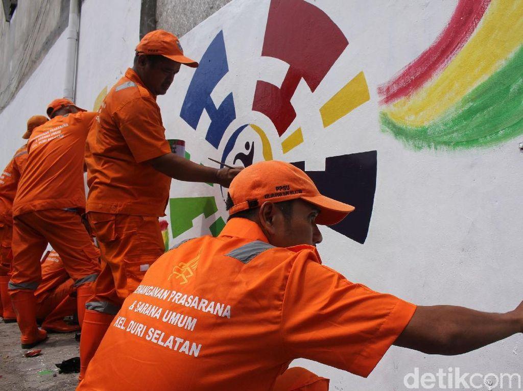 Mural Asian Para Games Mulai Digarap
