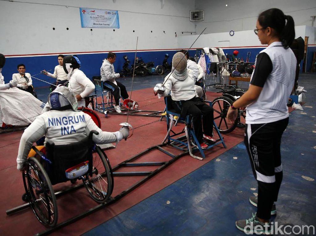 Intip Tempat Latihan Cabor Anggar Kursi Roda