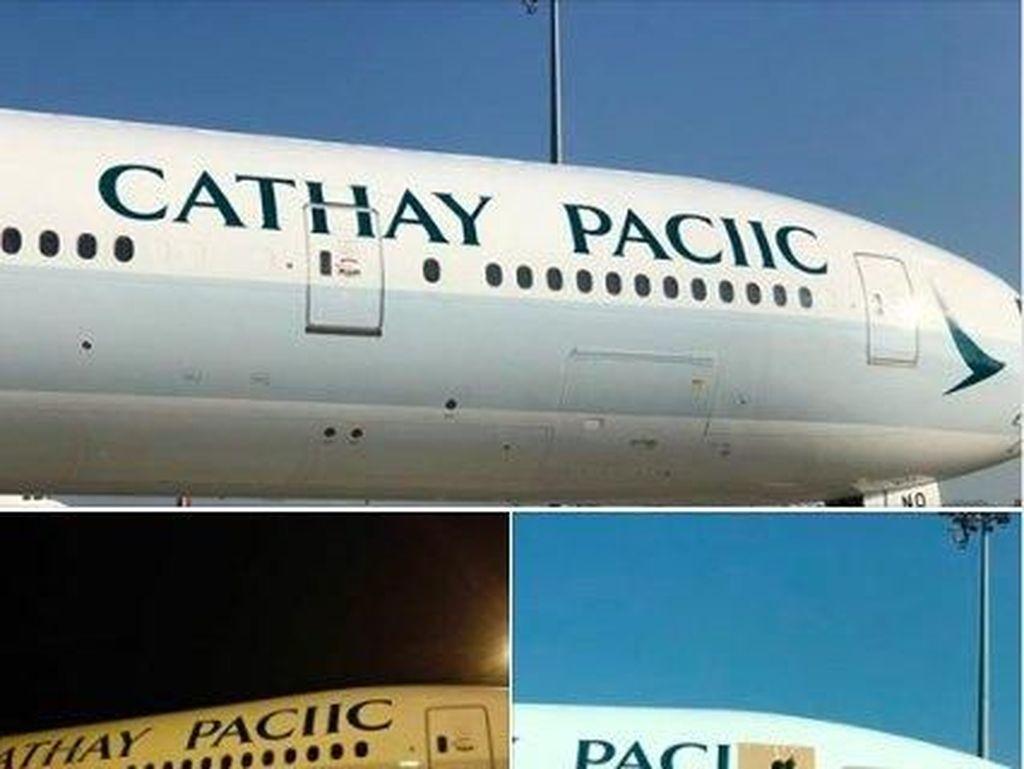 Maskapai Ini Typo di Badan Pesawat dan Viral