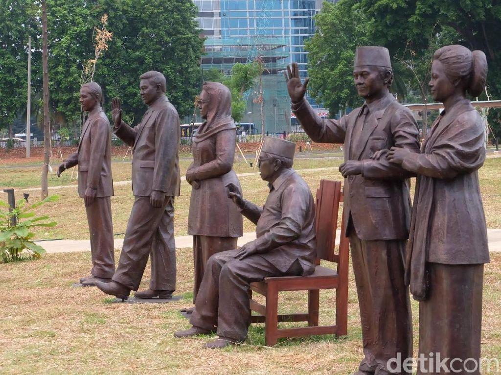7 Patung Presiden Indonesia Hiasi Hutan Kota GBK