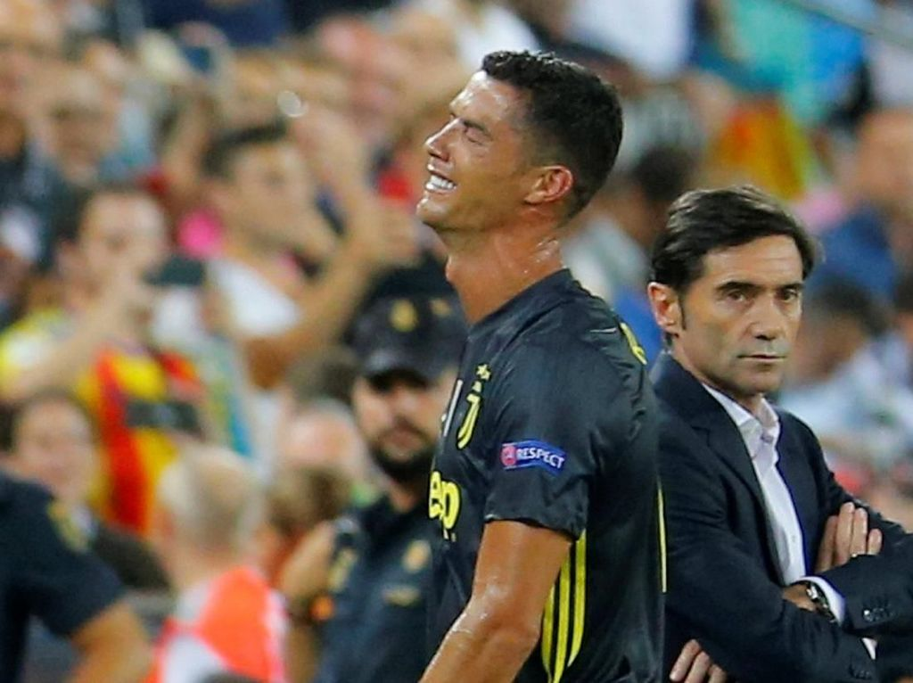 Air Mata Cristiano Ronaldo di Estadio Mestalla