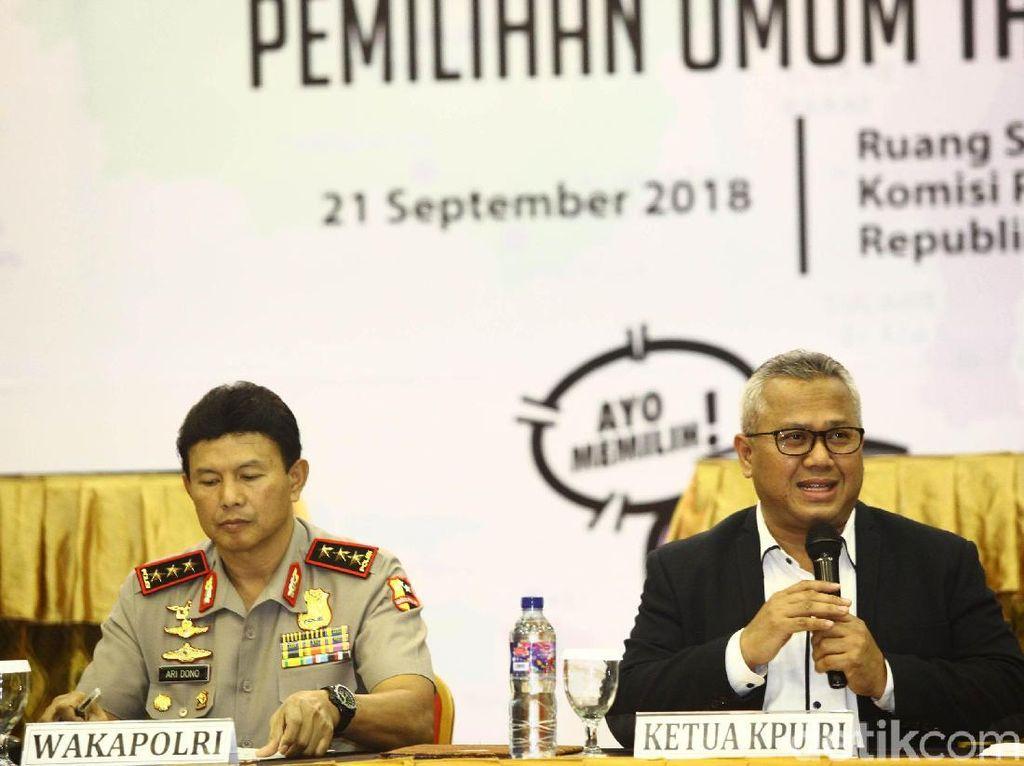 KPU Tetapkan Daftar Caleg 2019, PKB-NasDem-PAN Terbanyak