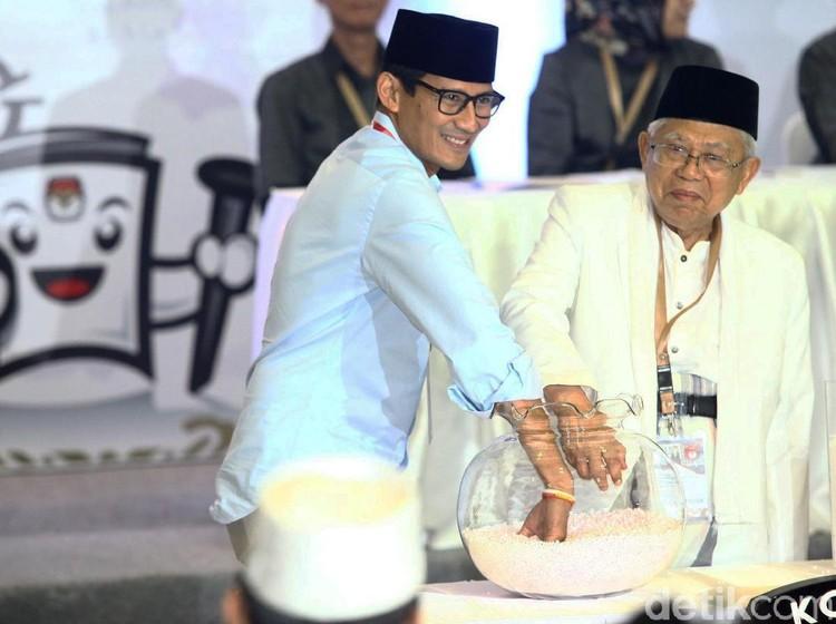 Indo Barometer: 3 Survei Tunjukkan Maruf Amin Ungguli Sandiaga