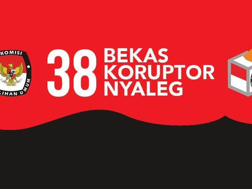 Catat! Ini 38 Caleg Eks Napi Korupsi