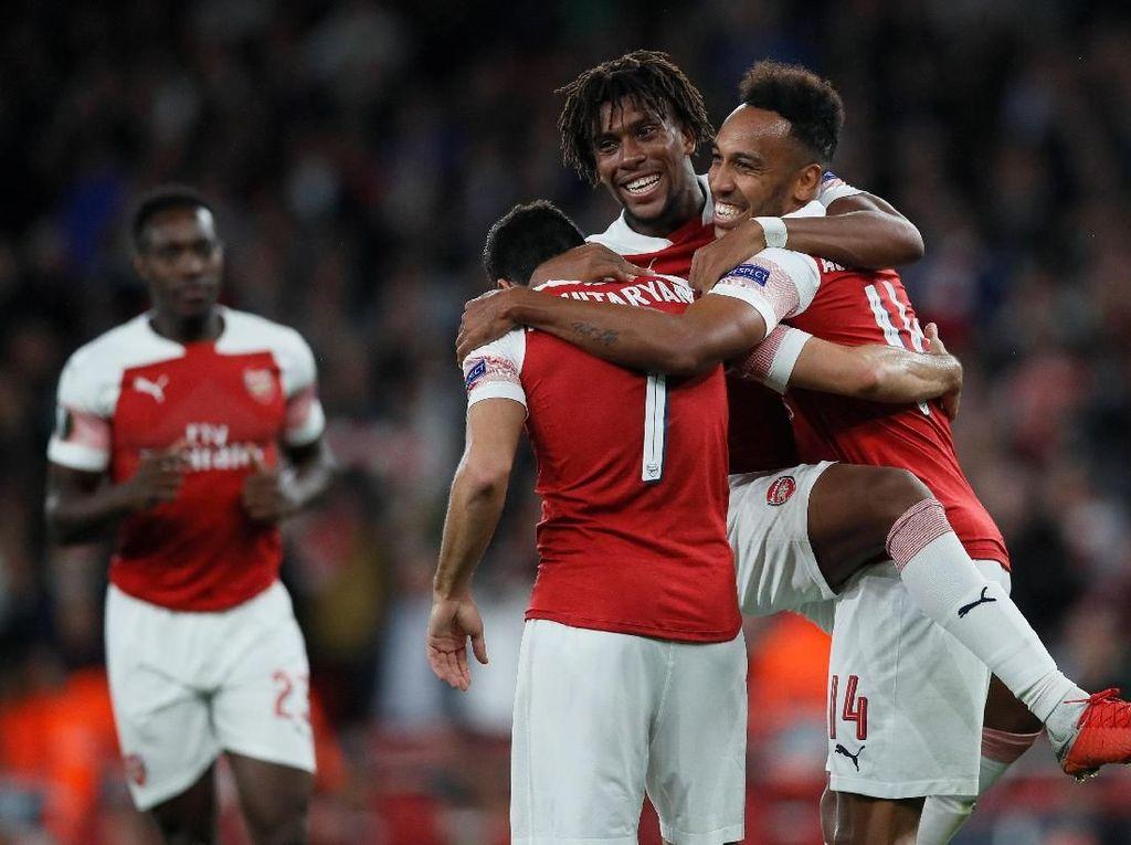 Hasil Liga Europa: Arsenal Bekuk Vorskla 4-2