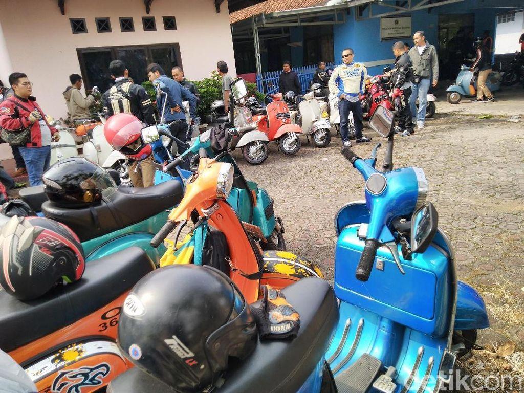 Pemilik Vespa Jawa Barat Ikuti Pesta Skuter di Yogyakarta