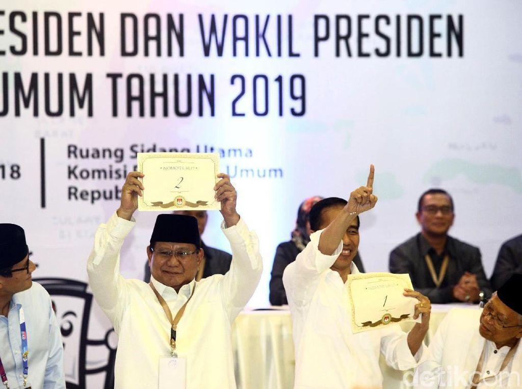 Jokowi Nomor 1 vs Prabowo Nomor 2 Jadi Pertarungan Branding Baru