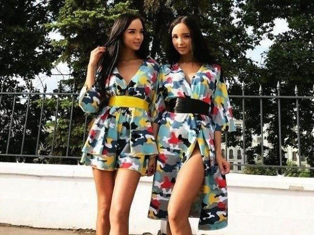 Selebgram Kembar Cantik dari Rusia Ini Viral karena Mau Dipoligami