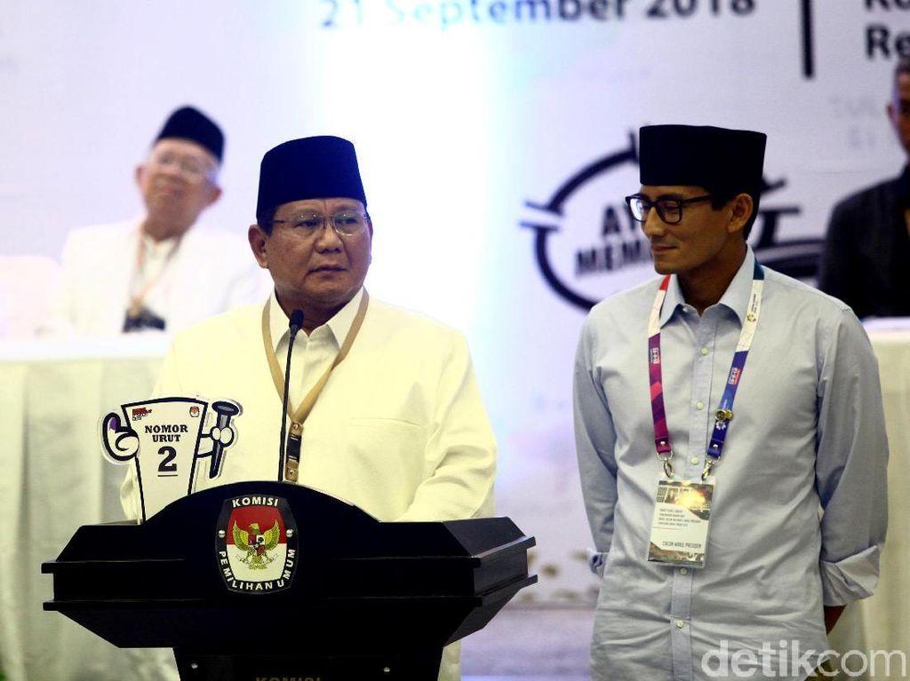 Dana Awal Kampanye Prabowo Tak Termasuk Galang Perjuangan