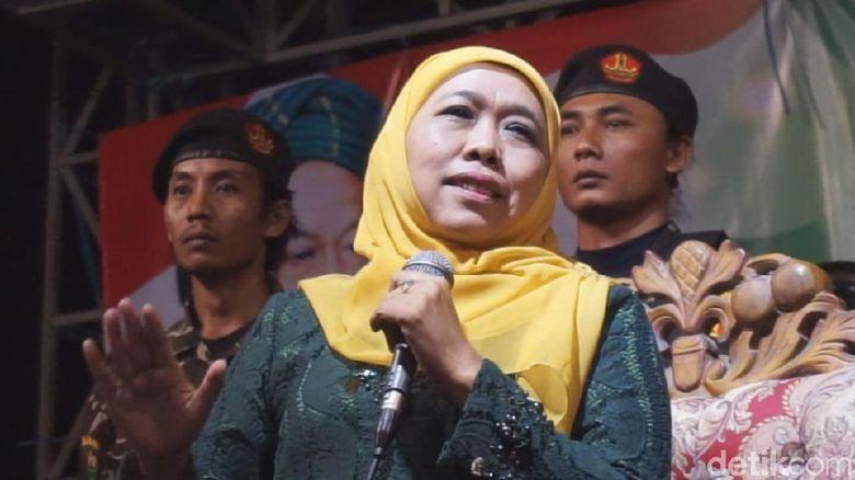 Khofifah Tolak Makara Tim Kampanye Jokowi-Maruf Amin di Jatim