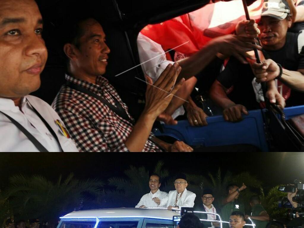 Cara Jokowi Ambil Nomor Urut ke KPU: 2014 Naik Bajaj, 2019 Land Rover