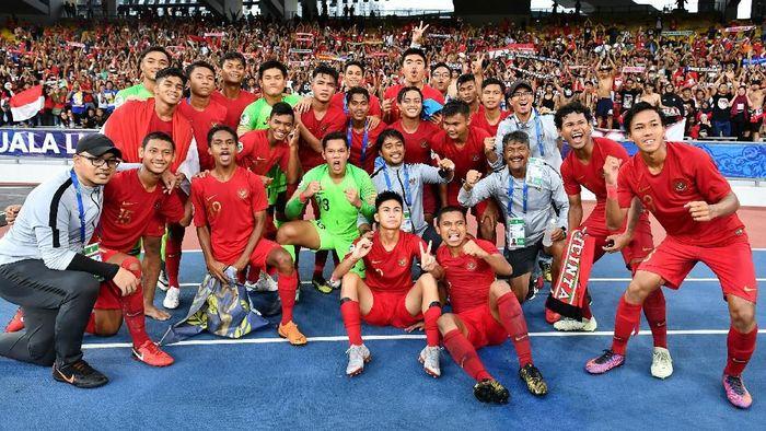 Timnas Indonees kalahkan Iran 2-1 (Istimewa/Adam Aidil)