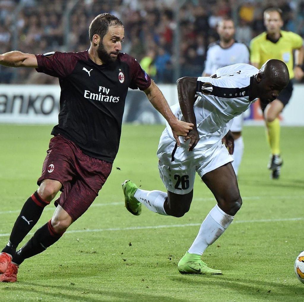 Hasil Liga Europa: AC Milan Menang Tipis di Kandang Dudelange