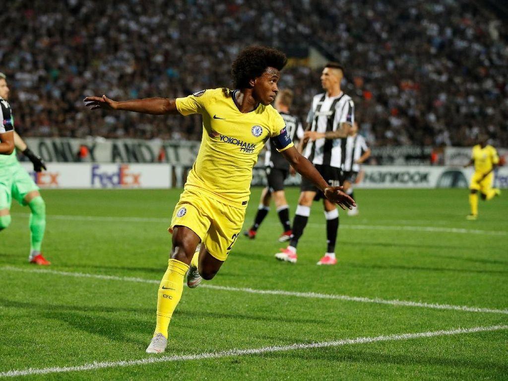 Hasil Liga Europa: Gol Tunggal Willian Menangkan Chelsea