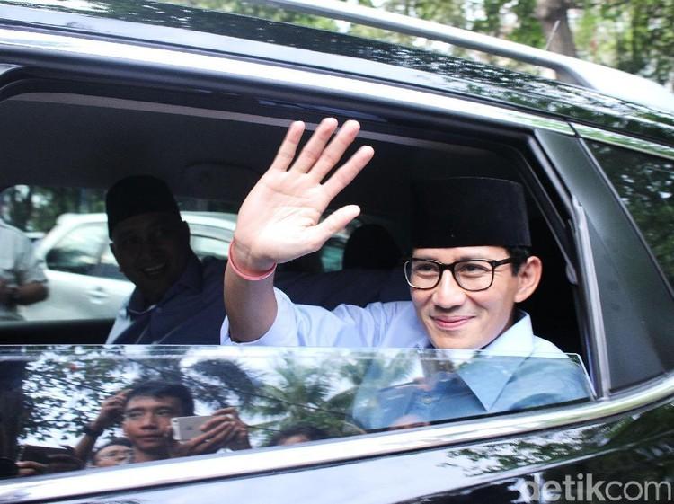 Sandiaga hingga Dahnil Anzar Kumpul di Rumah Prabowo