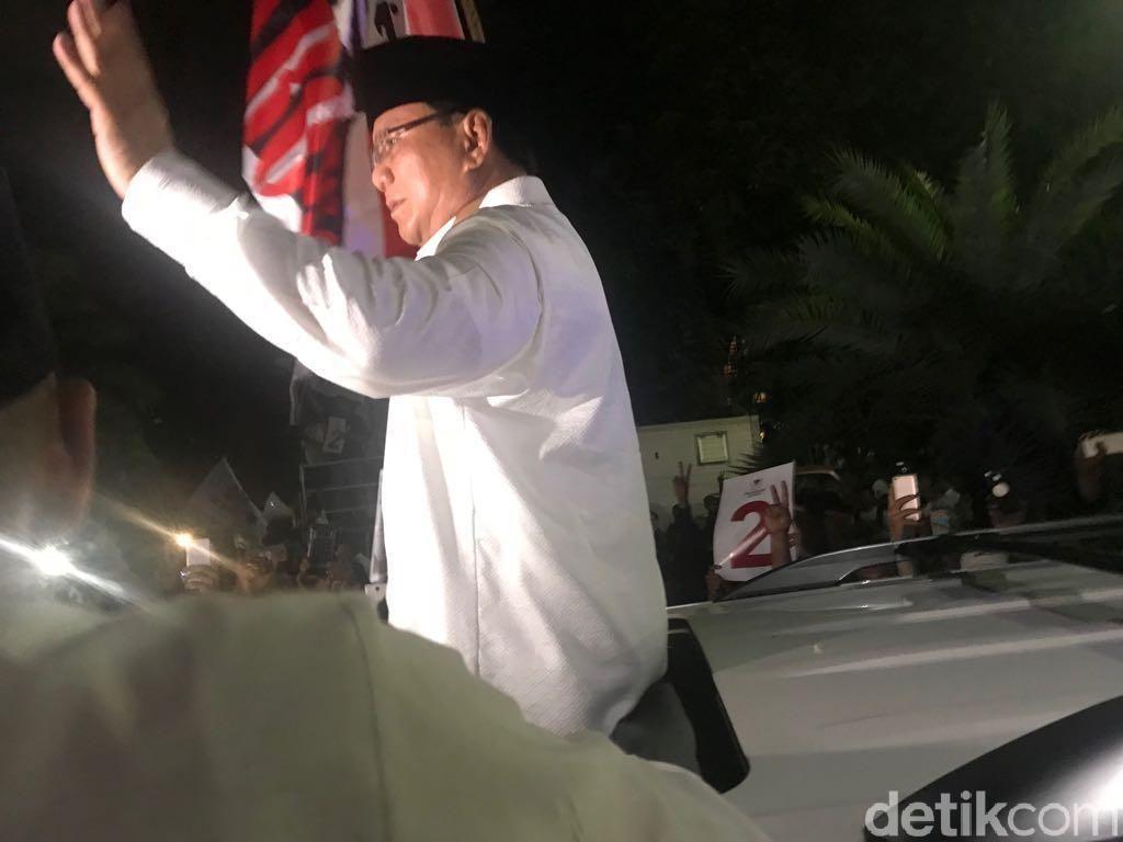 Usai Dapat Nomor Urut 2, Prabowo Kembali ke Kediamannya