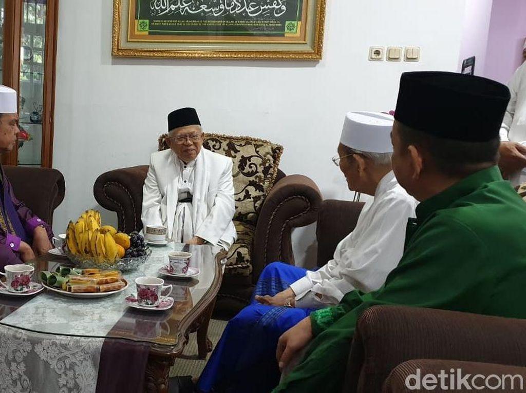 Maruf Amin Sowan ke Mantan Ketua MUI DKI
