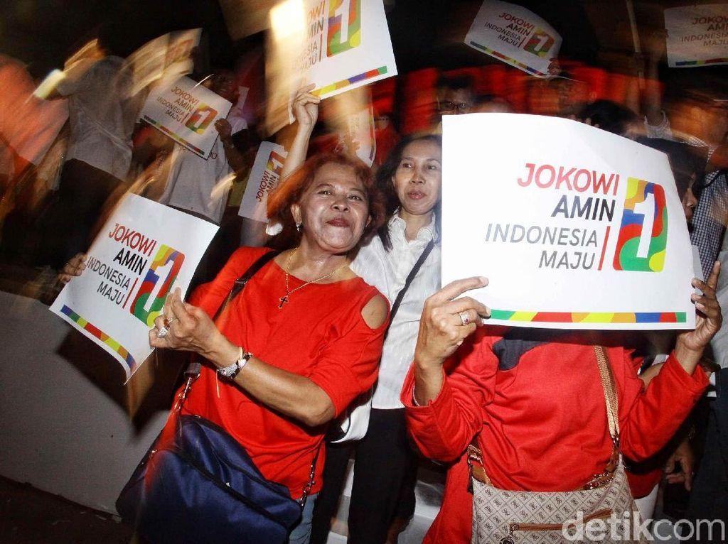 Hebohnya Pendukung Saat Jokowi Dapat Nomor Urut 1