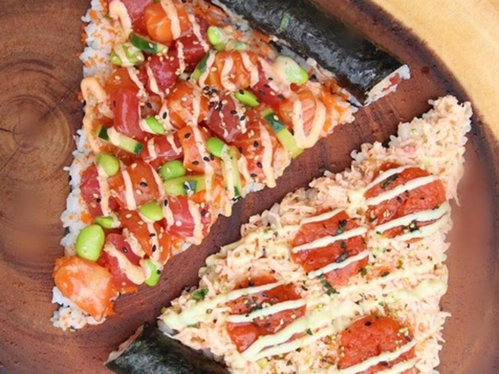 Ini Sushi atau Pizza? Bukan Pizza Italia Tapi Sushi Berbentuk Pizza