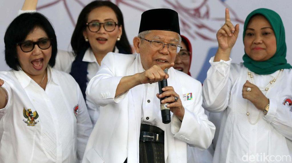Maruf Amin Terima Dukungan dari Perempuan Indonesia