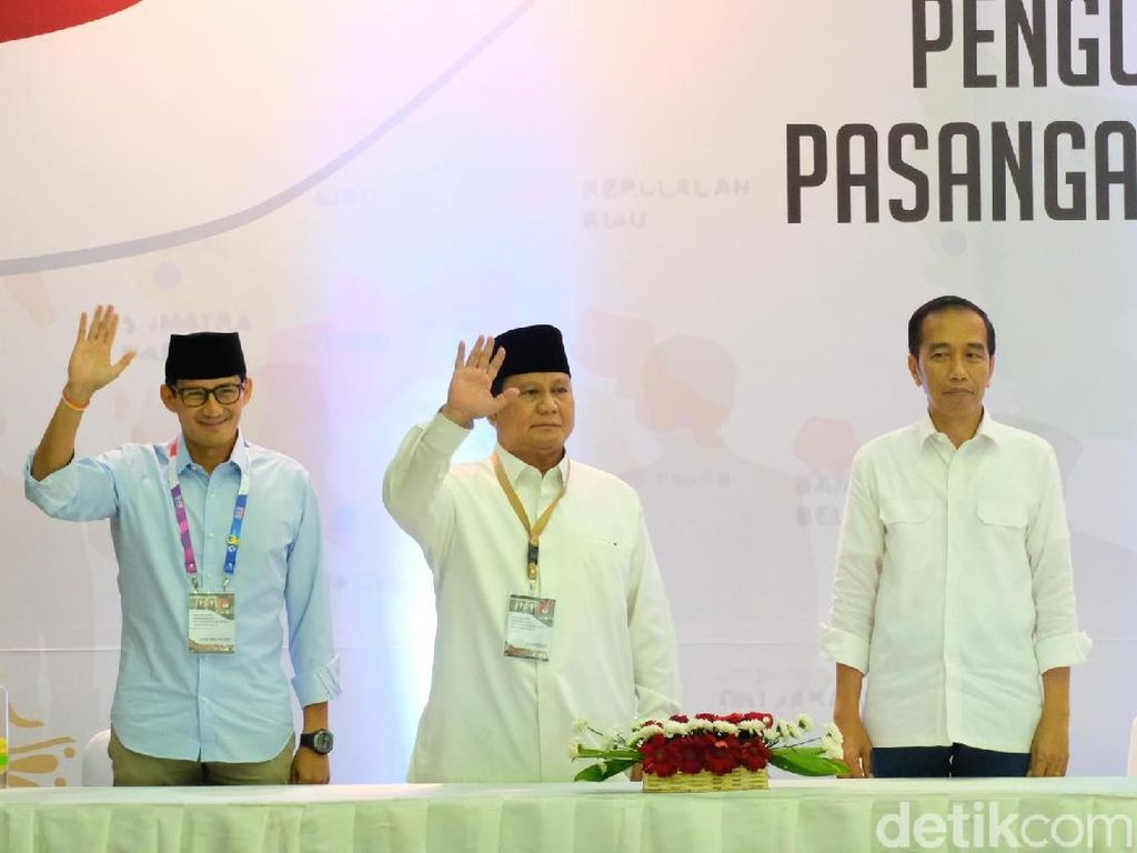 Elektabilitas Jokowi Vs Prabowo di 5 Survei Terakhir