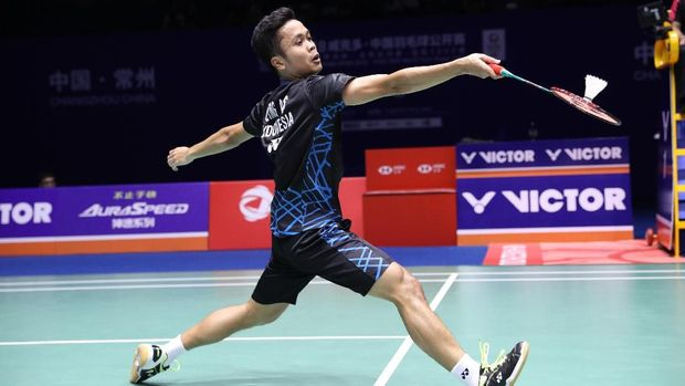 Anthony Ginting mengalahkan empat juara dunia sebelum merebut gelar China Terbuka 2018.