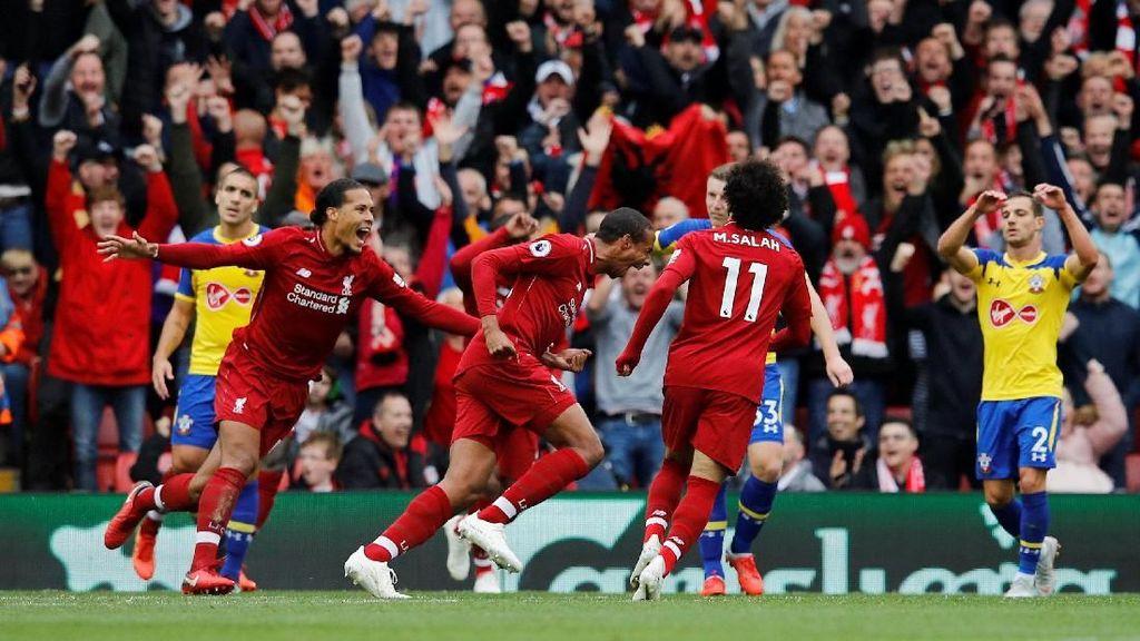 Babak I Tuntas, Liverpool Ungguli Southampton 3-0