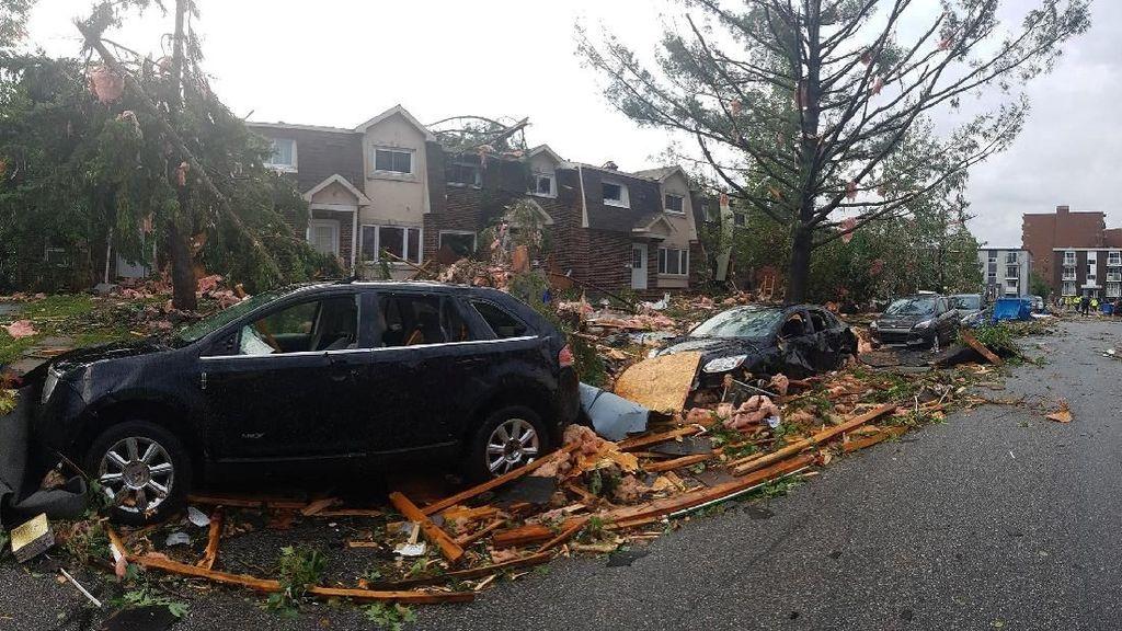 Begini Kerusakan Usai Tornado Berlalu di Kanada