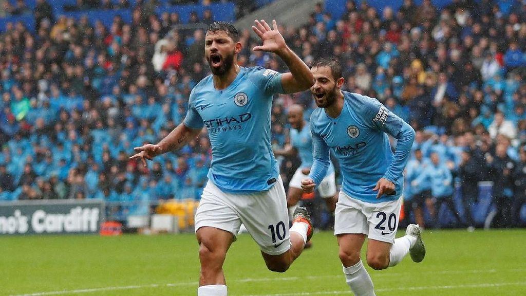City Memimpin 3-0 Atas Cardiff di Babak Pertama