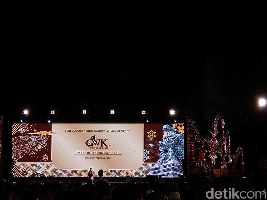 Video: Jokowi Resmikan Patung Garuda Wisnu Kencana