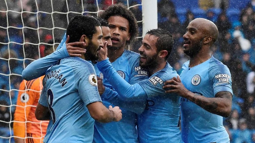 Manchester City Bantai Cardiff 5-0