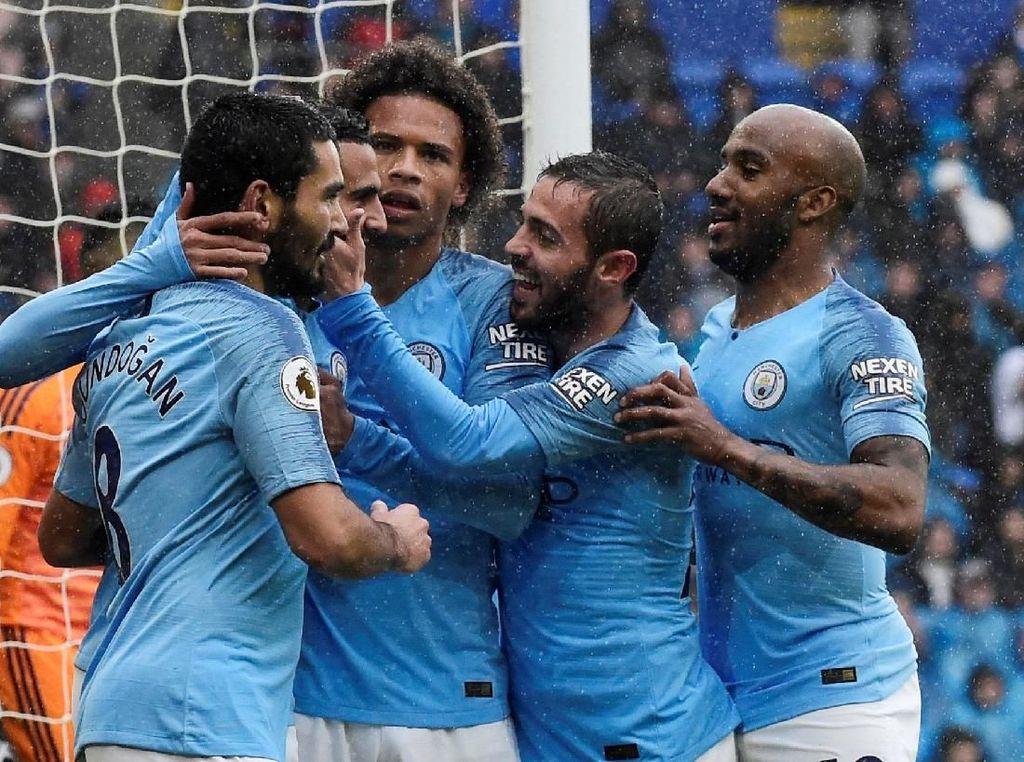 Manchester City Bantai Cardiff 5-0