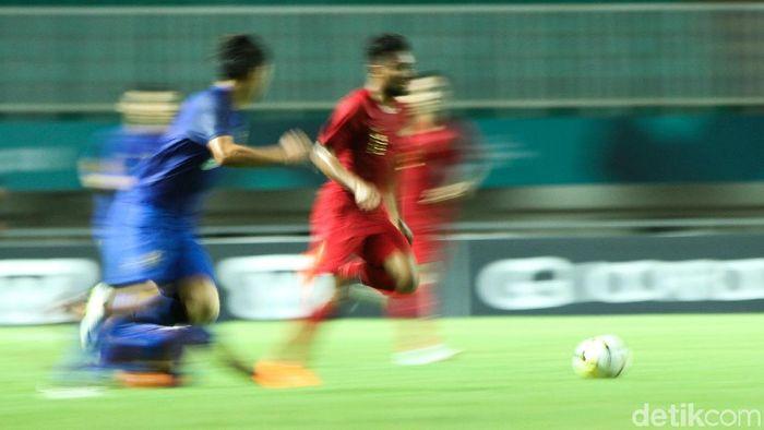 Timnas U-19 berimbang 2-2 kontra Thailand. (Foto: Rifkianto Nugroho)