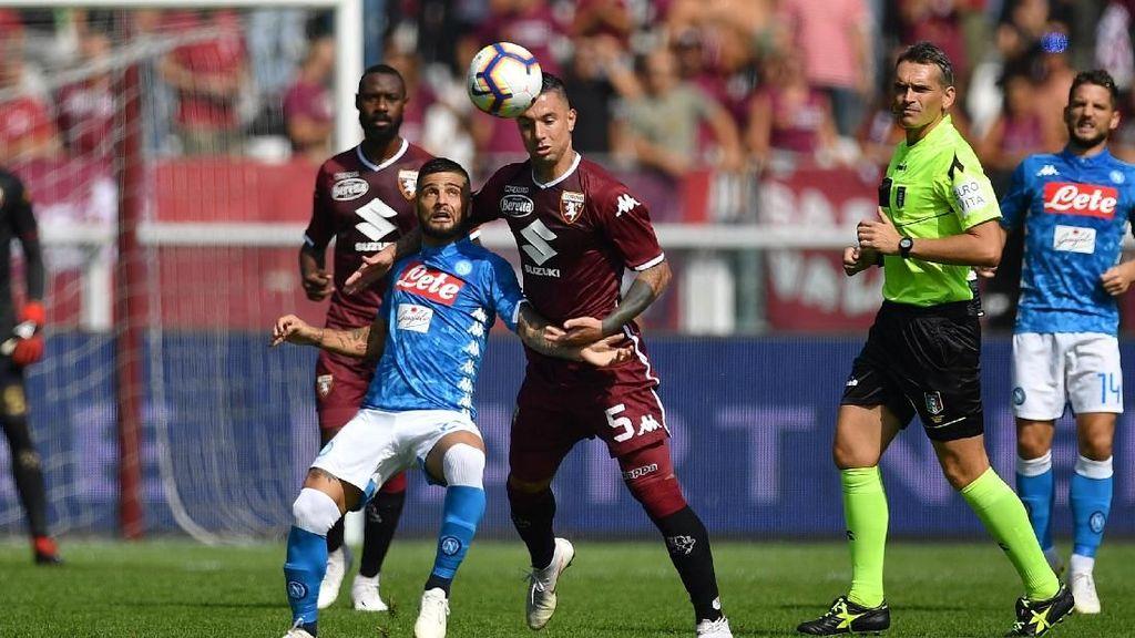 Hasil Liga Italia: Napoli Menang di Kandang Torino