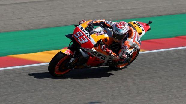 Marc Marquez bertekad meraih kemenangan di MotoGP Thailand. (