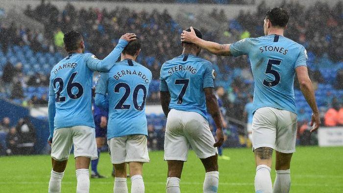 Manchester City menang 5-0 atas Cardiff City (Rebecca Naden/REUTERS)