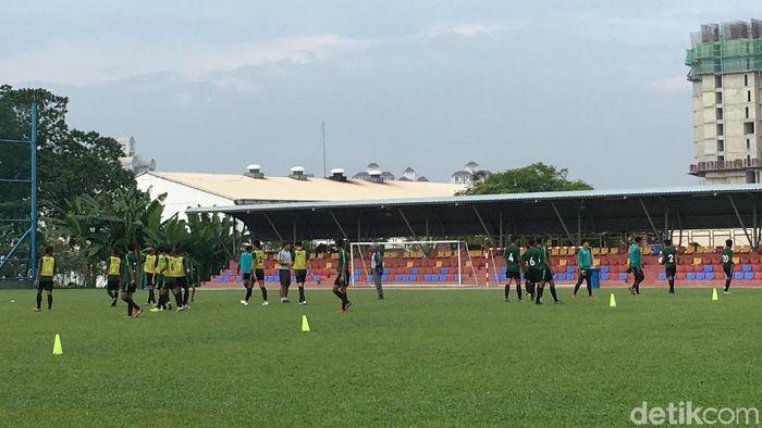 Timnas Indonesia U-16 akan menghadapi Vietnam di laga kedua fase grup Piala AFC U-16 2018. (Foto: Lucas Aditya/detikSport)