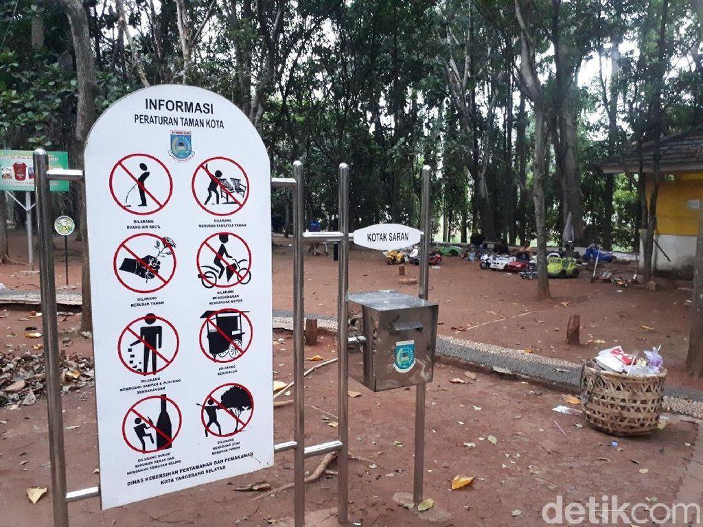 Foto: Potret Taman Kota BSD yang Kini Penuh Sampah