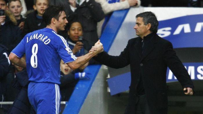 Frank Lampard dan Jose Mourinho saat sama-sama di Chelsea pada tahun 2007. (Foto: Shaun Botterill/Getty Images)