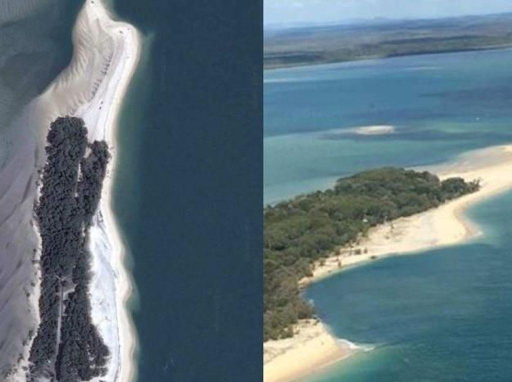 Potongan Pantai di Queensland Runtuh ke Laut
