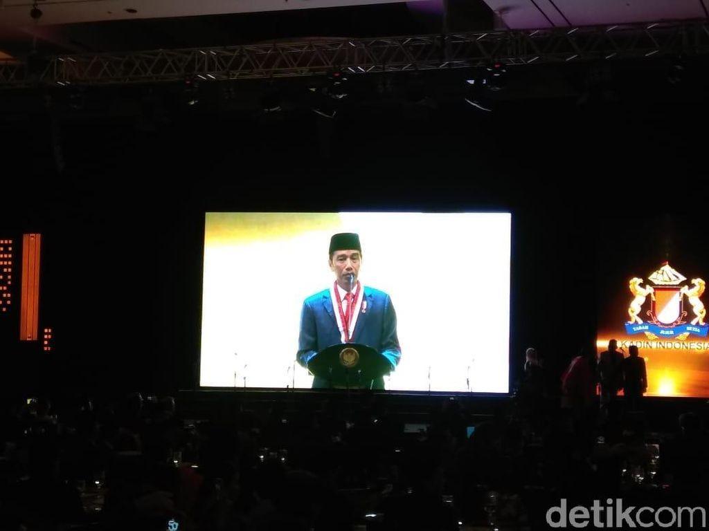 Hadiri Acara HUT Kadin, Jokowi: Kadin Turut Bentuk Ekonomi RI