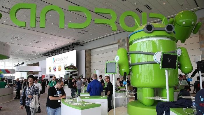 Android sudah bertakhta semenjak kelahirannya di tengah para raksasa 10 tahun silam (Foto: Justin Sullivan/Getty Images)